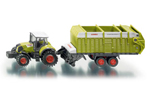 Siku - Claas 850 Tractor with Quantum Trailer 1:87 Die-cast replica - 1846