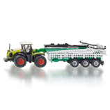 Siku - Claas Xerion Tractor with Slurry Tanker Trailer 1:87 Die-cast replica - 1827