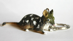 Spotted Quoll Key Ring 7.0cm Long