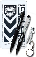 Top Gear Stig Keyring Floating Pen & Pencil Set