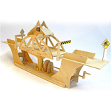 Truss Design Swing Bridge Working Wooden Construction Kit