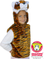 Kids Safari Tiger Hooded Jacket