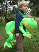 Kids Safari Wrap'n'Ride Green Frog