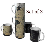 Game of Thrones Westeros Map Mugs Set of 3