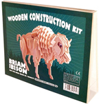 Wooden Brian the Bison Construction Kit