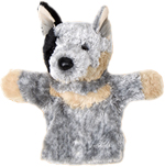 Digger the Blue Heeler Hand Puppet