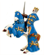 Papo King Richard and Rearing horse (blue)