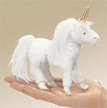 Folkmanis - White Unicorn Finger Puppet