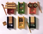 Six Pack Musical Instruments by Pintoys - Wooden