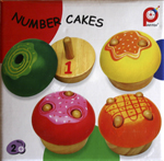 Wooden Number Cakes - Numbers teaching aid