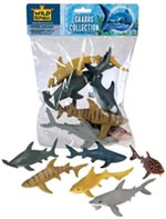 Polybag of Six Assorted Sharks