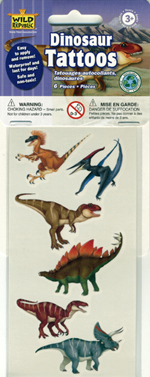 Dinosaur Theme Tattoos - 7 pack