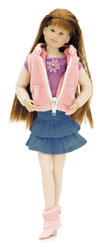 Pink Terry Vest - Outfit