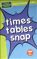 Times Tables Snap Card Game