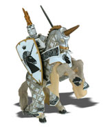 Papo - Unicorn Knight and Rearing Horse