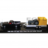 Road Ragers Cooee - 1980 Holden V8 Holden WB Black Ute TE20 Fergie Tractor 1:64