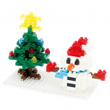 NANOBLOCK Snowman & the Christmas Tree - Construction Block Set - NBC-100 - RETIRED