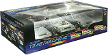 Back to the Future 1 2 3 Diecast DeLorean Cars 1:24 Scale - Triple Pack