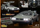NEW Back The Future BTTF Hot Toys DeLorean Car Time Machine 1:6 Scale MMS260
