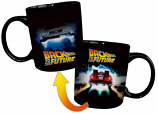 Back To The Future Delorean Heat Changing Boxed Tea / Coffee Mug - 1 ONLY